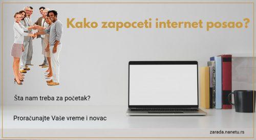 Kako započeti internet posao?